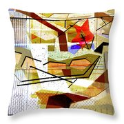 Interstate 10- Exit Out West- Where Life Begins New- Rectangle Remix Throw Pillow