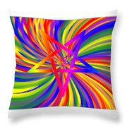 Inverted Rainbow Spiral Throw Pillow