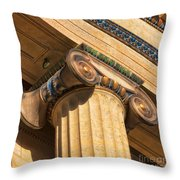 Ionic Volute Bw Throw Pillow