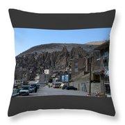 Iran Kandovan Stone Village Throw Pillow