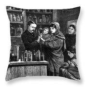 Ireland: Vaccination, 1880 Throw Pillow