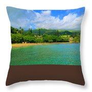 Island Of Maui Throw Pillow