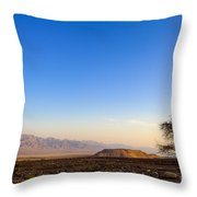 1-israel Negev Desert Landscape  Throw Pillow