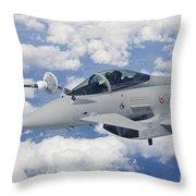 Italian Air Force Eurofighter Typhoon Throw Pillow