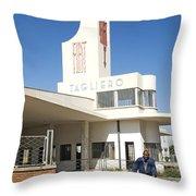 Italian Colonial Architecture In Asmara Eritrea Throw Pillow