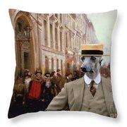 Italian Greyhound Art Canvas Print Throw Pillow