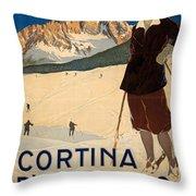 Italian Travel Poster Throw Pillow
