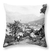 Italy Sorrento, C1869 Throw Pillow