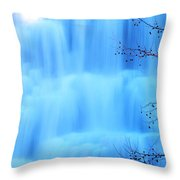 Ithaca Water Falls New York  Throw Pillow