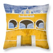 Izamal Convent Throw Pillow