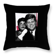 Jackie And Jack Kennedy In A Photo Booth Snap No Known Location 1953-2013 Throw Pillow