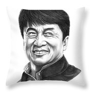 Jackie Chan Throw Pillow
