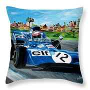 Jackie Stewart /tyrrell Throw Pillow