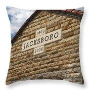 Jacksboro Texas Throw Pillow
