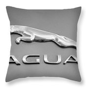 Jaguar F Type Emblem Throw Pillow