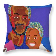 James And Monique Throw Pillow