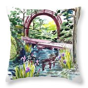 Japanese Tea Garden San Francisco Throw Pillow by Irina Sztukowski