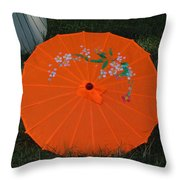 Japanese Umbrella Throw Pillow