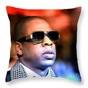 Jay Z Throw Pillow