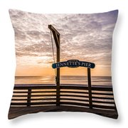 Jeanette's Pier  Throw Pillow