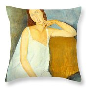 Jeanne Hebuterne Throw Pillow