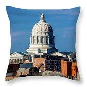Jefferson City - Missouri - Missouri Throw Pillow