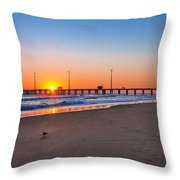 Jennettes Pier Throw Pillow