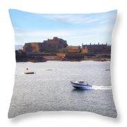 Jersey - Elizabeth Castle Throw Pillow