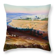 Jerusalem From The Mount Of Olives Throw Pillow