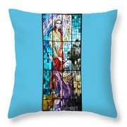 Jesus Healing The Blind Man Throw Pillow