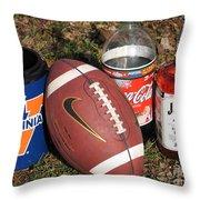 Jim Beam Coke And Football Throw Pillow