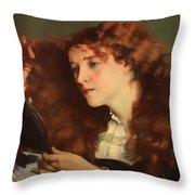 Jo The Beautiful Irish Girl Throw Pillow