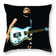 Joe Satriani Painting Throw Pillow