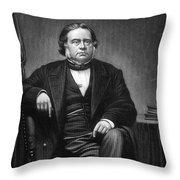 John Bright (1811-1889) Throw Pillow