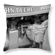 John Deere Diesel Throw Pillow by Susan Candelario
