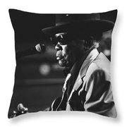 John Lee Hooker Throw Pillow