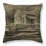 John Oliver Cabin In Cades Cove Throw Pillow