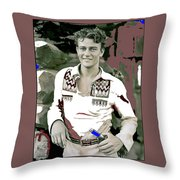 John Wayne In Buckskins The Big Trail 1930-2013 Throw Pillow