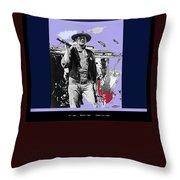 John Wayne Rio Bravo Publicity Photo 1959 Old Tucson Arizona Throw Pillow