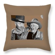 John Wayne Walter Brennan Publicity Photo Red River 1948-2013 Throw Pillow
