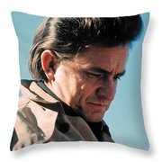 Johnny Cash Music Homage Ballad Of Ira Hayes Old Tucson Arizona 1971 Throw Pillow