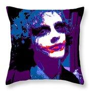 Joker 11 Throw Pillow