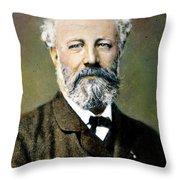 Jules Verne (1828-1905) Throw Pillow