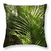 Jungle Ferns Throw Pillow