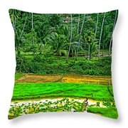 Jungle Homestead Throw Pillow