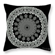 Kaleidoscope Ernst Haeckl Sea Life Series Black And White Set 2 Throw Pillow