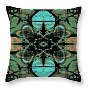 Kaleidoscope Flower 4 Throw Pillow