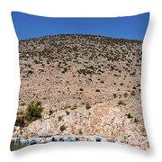 Kalymnos Port Throw Pillow