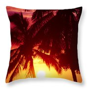 Kamaole Nights Throw Pillow