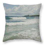 Kapalua Surf Honokahua Maui Hawaii Throw Pillow